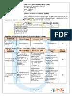 Rubrica de Evaluacion Curso 90004 2015