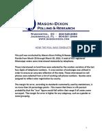 MEC-Mason Dixon Poll on MS taxes and roads