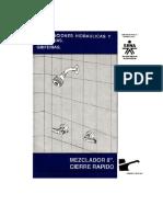 Instalaciones Hidráulicas y Sanitarias - Mezclador 8 Cierre Rápido 3