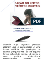A Formação Do Leitor Em Contextos Digitais