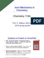Lecture 1 CHE110A 2016
