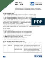 Edital CET 2016 Processo