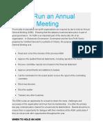 How to Run an Annual General Meeting