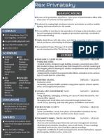 RexPrivratsky Resume Artist Format