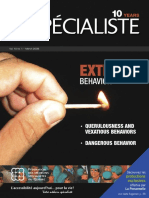 "Vol 10 no 1  Le Spécialiste, The FMSQ Magazine Vol. 10 no. 1 – March 2008. Special issue featuring a ""Dossier"" on EXTREME BEHAVIOR"