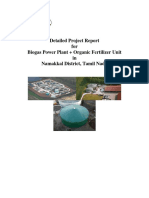 Detailed Project Report for Biogas Power Plant