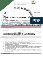 Plan de de Acompañamiento 2015