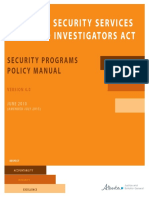 Alberta Security Services and Investigators Act - Policy Manual 4 0 - Amended 2015