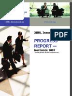 Xbrl Progress Report