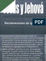 Jesús igual a Jehova