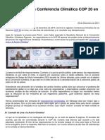 COP 20 2014 Analisis Resultados