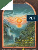 Bordeaux Szekely Edmond - Vivre en Harmonie Avec l'Univers