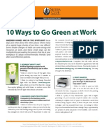 tips to go green at work