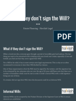 What if They Don't Sign the Will - Estate Planning Advice -  Havilah Legal