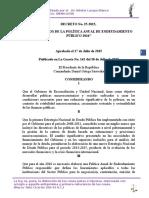 Decreto 25-2015 Política de Endeudamiento 2016