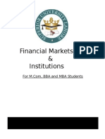 Financial Markets & Institutions.