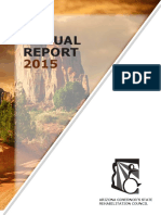 2015 Annual Report - Arizona Governor's State Rehabilitation Council