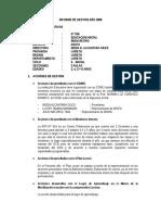 Informe de Gestion Año 2009 Neida Alcantara