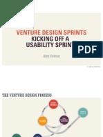 Usability Sprint Kickoff