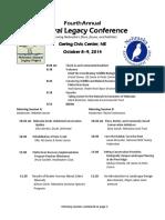 NaturalLegacyConf2014 Agenda