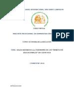 Ensayo de La Taxonomia de Los Beneficios Educacionales en c.r