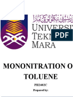 Mononitration of Toluene