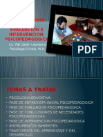 La Entrevista Inicial, Evaluacion e Intervencion Psicopedagogica
