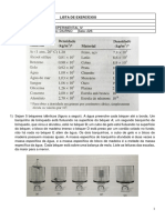 FETRANS - 1a Lista de Exercícios
