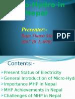 Micro Hydro in Nepal