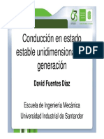 Conduccion en Estado Estable Unidimensional Con Generacion