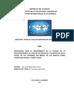 Mejoramiento de La Calidad de La Educaciona Basica Ecuador 2010