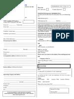 Enrolment Form Australia