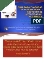 Guia Para Elaborar Un Plan de Tesis o Proyecto de Investigación Económica