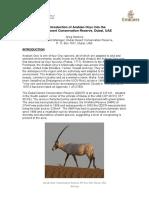 Arabian Oryx Reintroduction 2007