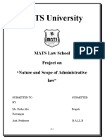Nature and Scope of Administrative Lawby Pragati Administrative Law