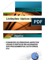 Mini-curso sobre Licitações na Administração Pública Federal