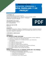 """""""Orientación Consejería y Terapia Familiar y de Pareja"""" 2016 - 2017"""