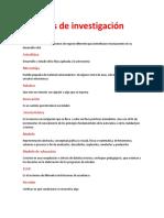 Palabras de Investigacion