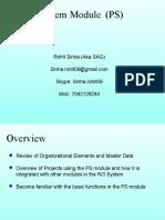 Rohit Demo SAP PS Module Training