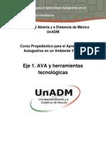Eje 1. AVA y Herramientas Tecnológicas (1)