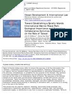 Toward Establishing a Spratly Islands International Marine Peace Park