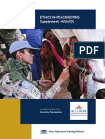 Ethics in Peacekeeping - Supplement HIV AIDS