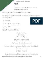 Protocolo Actos. Guión o Libreto