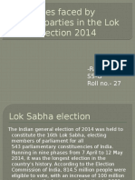 Challenges Faced by Political Parties in the Lok