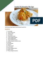 Paruppu Urundai Kulambu Recipe