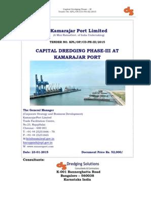 Capital Dredging Tender Document   Transport   Business