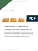 Crea Un Ticket (Boleto) en Photoshop Desde Cero _ Gravedad Blog