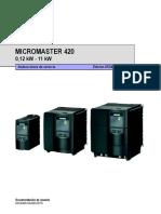 Micromaster 420 Siemens