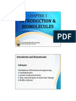 Introduction & Biomolecules