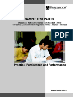 Jee Adv Sample TestPaper ResoNET-2016